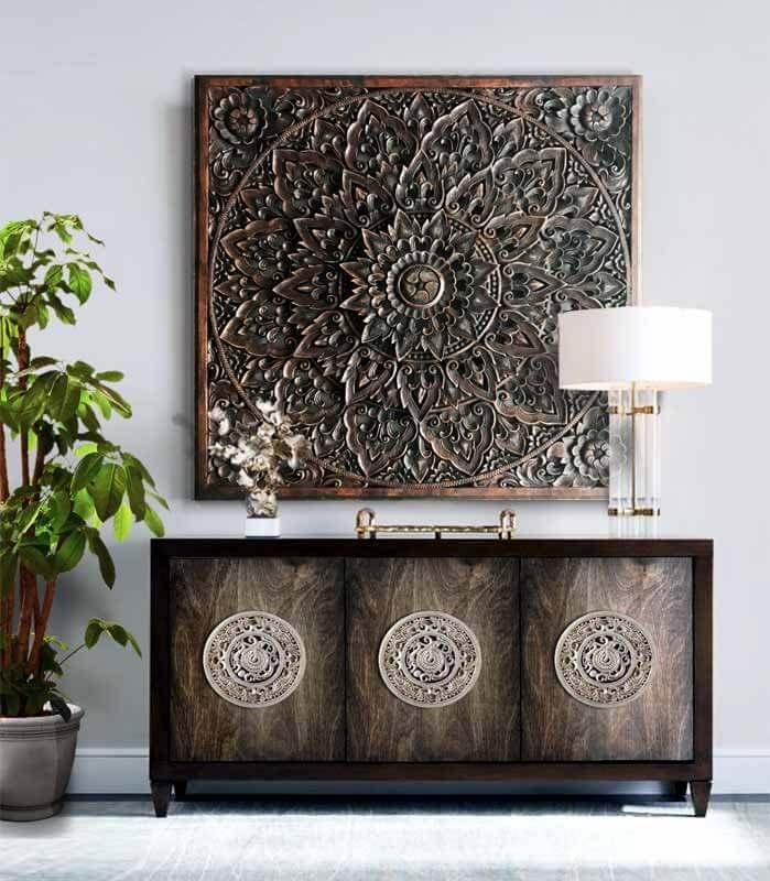 cuadros de mandalas en madera