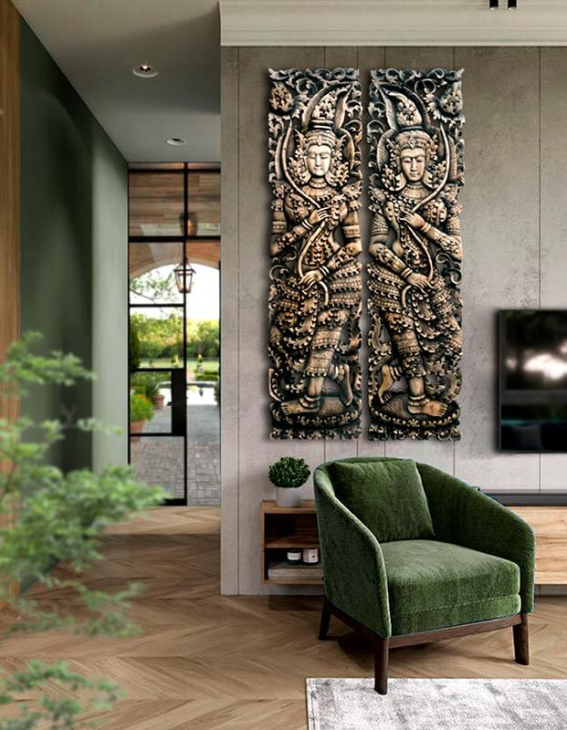 tallas de madera para decorar y reformar el salon