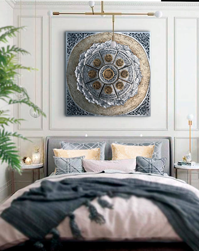 ideas para decorar el dormitorio beneficios cuadros mandalas