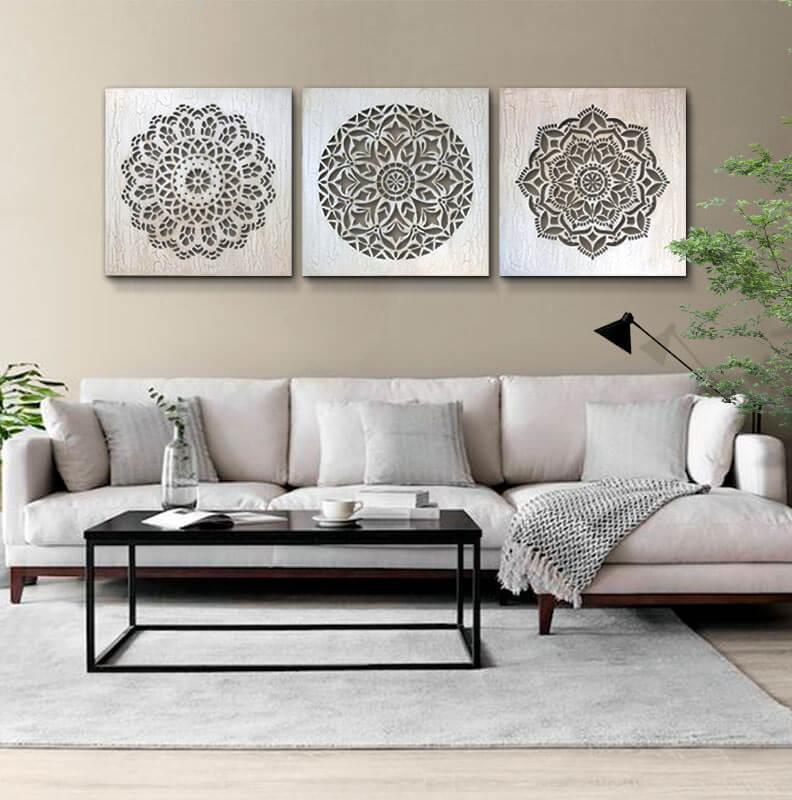 Cuadros para decorar el sofá