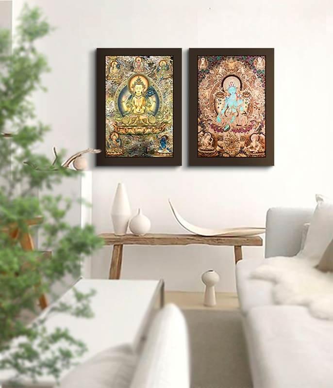 cuadros deidades zen