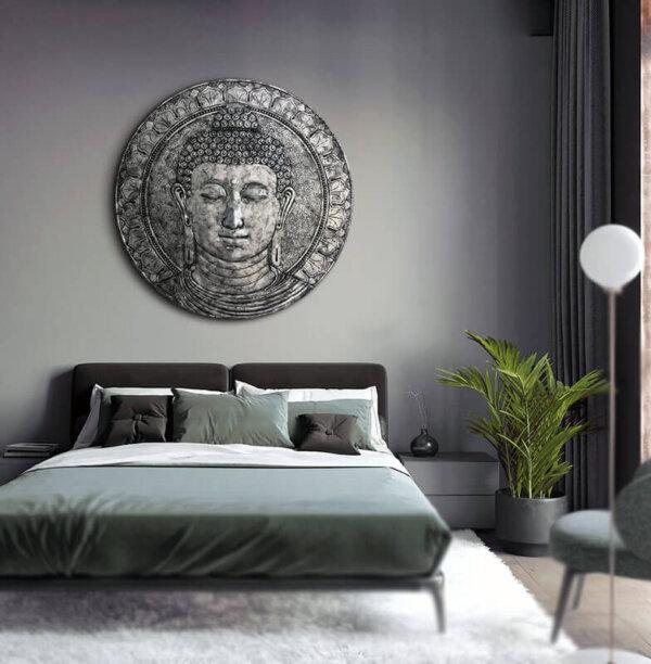 cuadros dormitorio plateados