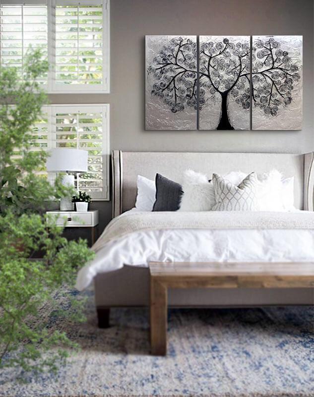 decoración con cuadros dormitorio
