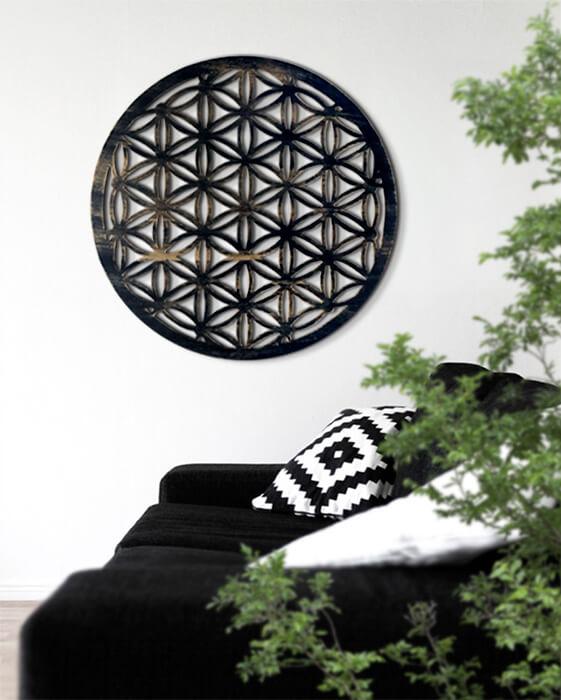 símbolo circulo flor de la vida
