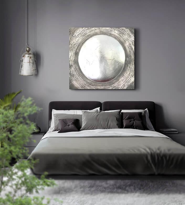 cuadros modernos plata
