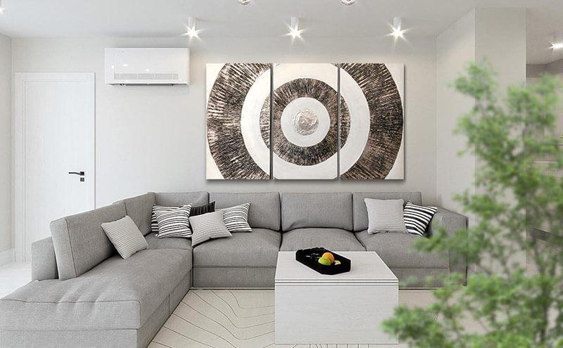 cuadros modernos para el sofa