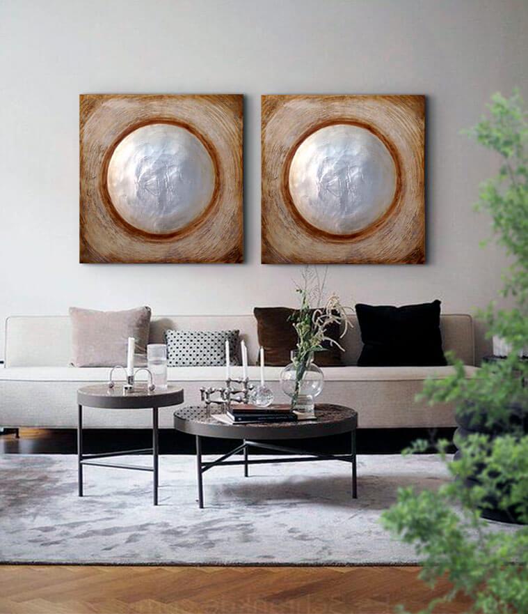 cuadros zen luna modernos