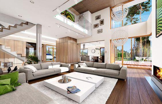 Ideas para crear un salón con dos ambientes