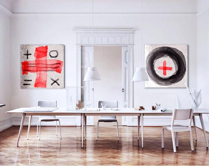 cuadros modernos salon comedor